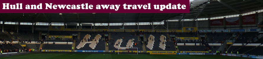 Hull City and Newcastle United away travel update